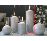 Lima Ľadová strieborná sviečka valec 70 x 200 mm 1 kus