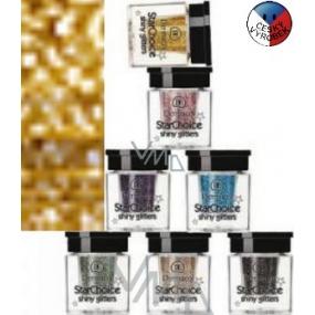 Dermacol Star Choice Shiny Glitters Trblietky na oči 02 zlatá 2 g