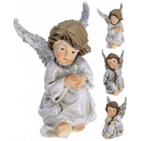 Anjel keramický krídla glitr mix 100 mm 1 kus