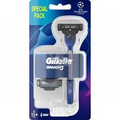 Gillette Mach3 holiaci strojček pre mužov + náhradné hlavice 4 kusy