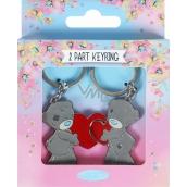 Me to You Kľúčenka dvojdielna kovová 2 srdce 3 x 8 cm