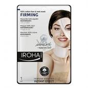 Iroha Firming Zpevňující bavlněná maska na obličej a krk s perlovým a hyaluronovým sérem 23 ml