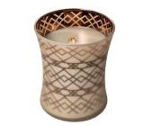 Woodwick Fireside - Oheň v krbe vonná sviečka s dreveným knôtom a viečkom sklo stredné 275 g Autumn limited 2019