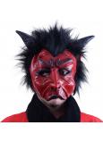 Maska čert s vlasmi