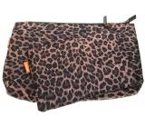 Diva & Nice Kozmetická kabelka leopardí vzor malá 19 x 14 cm, veľká 29 x 19 cm, sada 2 kusov 90121