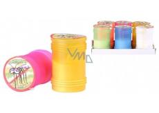 Citronella Repelentný vonná sviečka proti komárom, v plaste, farebný mix 60 x 95 mm 1 kus