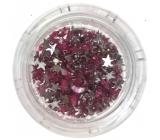 Professional Ozdoby na nechty kamienky hviezdičky ružové 132