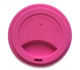 Jack N Jill BIO Silikónové viečko na téglik ružové 8,7 x 1,8 cm