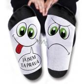 Nekupto Rodinné darčeky s humorom Ponožky Som tá pravá, veľkosť 39-42 WZ 001