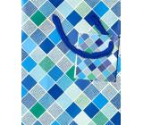 Nekupto Darčeková papierová taška 14 x 11 x 6,5 cm Kosoštvorce 1659 40 KFS