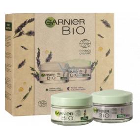 Garnier Bio Lavandin denný krém proti vráskam 50 ml + Bio Lavandin nočný krém proti vráskam 50 ml, kozmetická sada