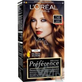 Loreal Paris Préférence recitál farba na vlasy 7.43 / K2 shangrilla medená blond