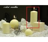 Lima Wellness Vanilka aróma sviečka valec 60 x 120 mm 1 kus