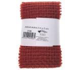 Ditipo Stuha jutová červená 2 mx 5 cm
