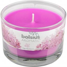 Bolsius Aromatic Lilac Blossom vonná sviečka v skle 90 x 65 mm 247 g doba horenia cca 30 hodín