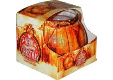 Admit Christmas Gold aromatická svíčka ve skle 80 g