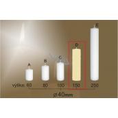 Lima Gastro hladká sviečka slonová kosť valec 40 x 150 mm 1 kus