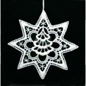 Háčkovaný strom vo hviezde 9,5 cm