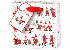 BSB Luxusná darčeková papierová taška 14,5 x 15 x 6 cm Santa VDT 002 CD