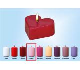 Lima Plávajúce sviečka srdiečko ružové 60 x 60 x 25 mm 1 kus