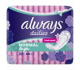 Always Dailies Singles To Go Normal Fresh Scent slipové intímne vložky 20 kusov