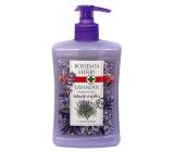 Bohemia Gifts & Cosmetics Lavender regenerační tekuté mýdlo dávkovač 500 ml