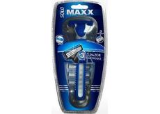 Solo Maxx Razor holící strojek pro muže 1 kus + náhradní hlavice 3 kusy