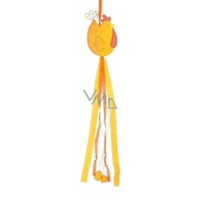 Sliepočka drevená s mašľami výška 80 cm oranžová 1 kus