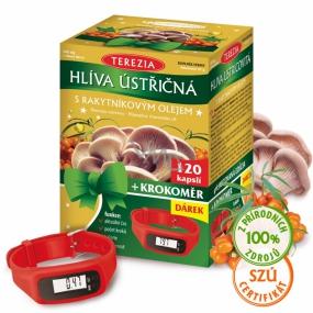 Terezia Hliva ustricová s rakytníkovým olejom je 100% čistý prípravok bez prímesí s vysokým obsahom vlákniny cps.120 + krokomer