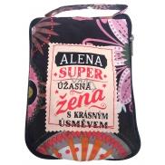 Albi Skladacia taška na zips do kabelky s menom Alena rozmer: 42 cm × 41 cm × 11 cm