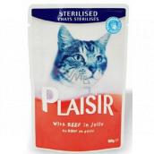 Plaisir Cat hovädzie v želé kompletné krmivo pre mačky kapsička 100 g