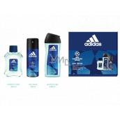 Adidas UEFA Champions League Dare Edition VI toaletná voda pre mužov 100 ml + sprchový gél 250 ml + dezodorant sprej 150 ml, darčeková sada