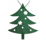 Strom drevený závesný zelený 10 cm