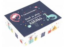 Albi Hracie krabička na peniaze Dinosaury 11 x 9 x 3,5 cm