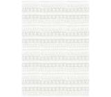Ditipo Darčekový baliaci papier 70 x 100 cm Vianočný biele čiarky, vločky, srdiečka 2 archy