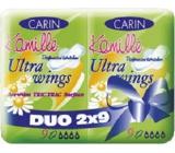 Carine Ultra Wings Kamille intímne vložky Duo 2 x 9 kusov