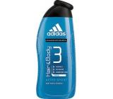 Adidas Hair & Body 3 After Sport sprchový gel na tělo a vlasy pro muže 400 ml