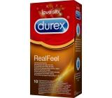 Durex Real Feel kondom kondom pro přirozený pocit kůže na kůži nominální šířka: 56 mm nelatexové i pro alergiky 10 kusů