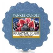 Yankee Candle Mulberry & Fig Delight - Lahodné moruše a fíky vonný vosk do aromalampy 22 g