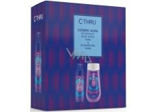 C-Thru Cosmic Aura dezodorant sprej pre ženy 150 m + sprchový gél 250 ml, kozmetická sada