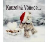 Me to You Blahopřání do obálky 3D Přání k Vánocům, Vánoční medvěd se sáňkami 15,5 x 15,5 cm