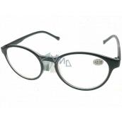 Berkeley Čítacie dioptrické okuliare +2,0 plast čierne, okrúhle sklá 1 kus MC2182