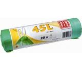 Odpadk.pytel 45l 20ks Folifix zatah.zelené 0764
