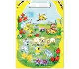 Anjel Veľkonočné igelitová taška Kozliatka a ovečky 32 x 20 x 4 cm