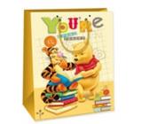 Ditipo Disney Dárková papírová taška dětská L Medvíde Pú, Youre Great Reader 26,4 x 12 x 32,4 cm