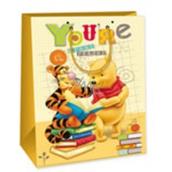 Ditipo Disney Darčeková papierová taška pre deti L Macko Pú, Youre Great Reader 26,4 x 12 x 32,4 cm