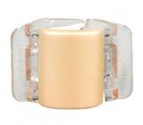 Linziclip Midi Vlasový skřipec perleťově béžový 3,5 cm vhodný pro středně husté a husté vlasy 1 kus