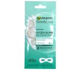 Garnier Moisture + Smoothness s kokosovou vodou a kyselinou hyalurónovou vyhladzujúci textilné maska na oči 15 minútová 6 g