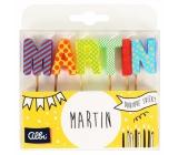 Albi Tortové sviečky meno - Martin, 2,5 cm