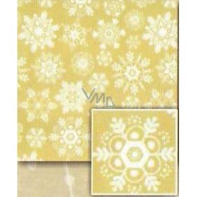 Nekupto Baliaci papier vianočný Zlatý, biele vločky 0,7 x 5 m